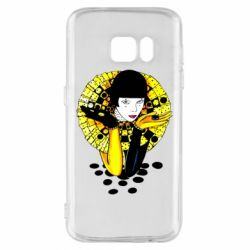 Чехол для Samsung S7 Black and yellow clown