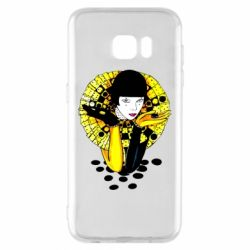 Чехол для Samsung S7 EDGE Black and yellow clown