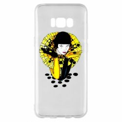 Чехол для Samsung S8+ Black and yellow clown