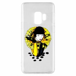 Чехол для Samsung S9 Black and yellow clown
