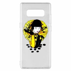 Чехол для Samsung Note 8 Black and yellow clown