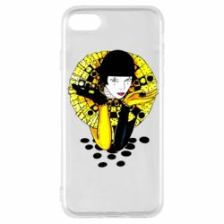 Чехол для iPhone 8 Black and yellow clown