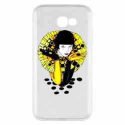 Чехол для Samsung A7 2017 Black and yellow clown