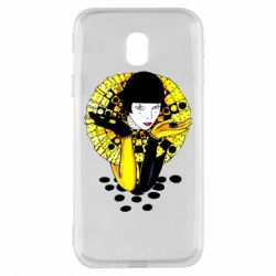 Чехол для Samsung J3 2017 Black and yellow clown