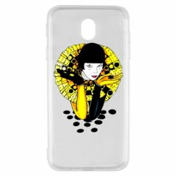 Чехол для Samsung J7 2017 Black and yellow clown