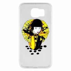Чехол для Samsung S6 Black and yellow clown