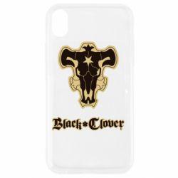 Чехол для iPhone XR Black clover logo