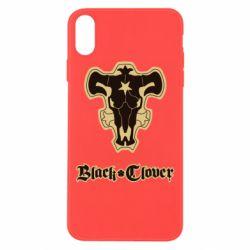 Чехол для iPhone Xs Max Black clover logo