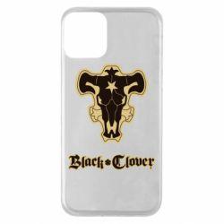 Чехол для iPhone 11 Black clover logo