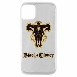 Чехол для iPhone 11 Pro Black clover logo