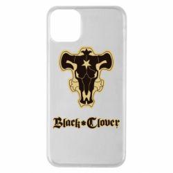 Чехол для iPhone 11 Pro Max Black clover logo