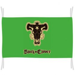 Флаг Black clover logo