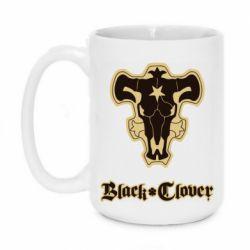 Кружка 420ml Black clover logo
