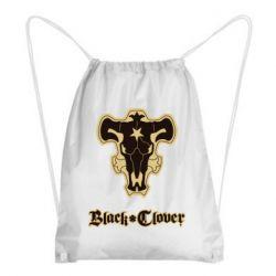 Рюкзак-мешок Black clover logo