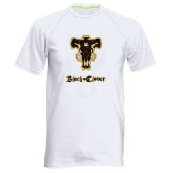 Мужская спортивная футболка Black clover logo