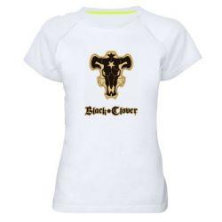 Женская спортивная футболка Black clover logo