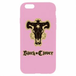 Чехол для iPhone 6 Plus/6S Plus Black clover logo
