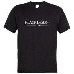 Чоловіча футболка з V-подібним вирізом Black desert online
