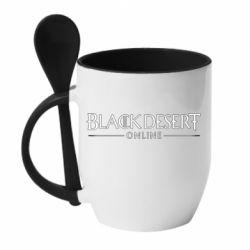 Кружка з керамічною ложкою Black desert online