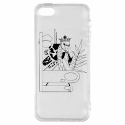 Чехол для iPhone5/5S/SE Black flamingo
