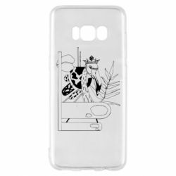 Чехол для Samsung S8 Black flamingo