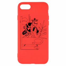 Чехол для iPhone 8 Black flamingo