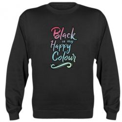 Реглан (свитшот) Black is my happy colour