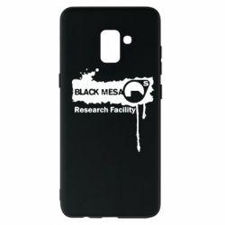Чехол для Samsung A8+ 2018 Black Mesa