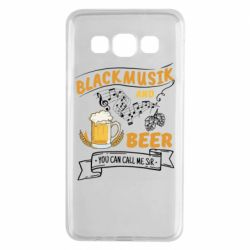 Чехол для Samsung A3 2015 Black music and bear you can call me sir