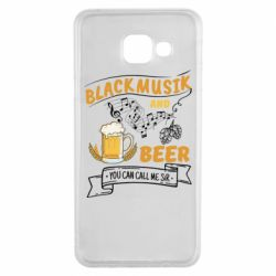 Чехол для Samsung A3 2016 Black music and bear you can call me sir