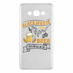 Чехол для Samsung A7 2015 Black music and bear you can call me sir