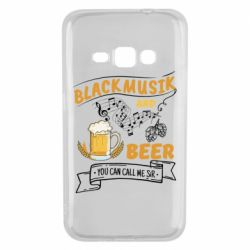 Чехол для Samsung J1 2016 Black music and bear you can call me sir