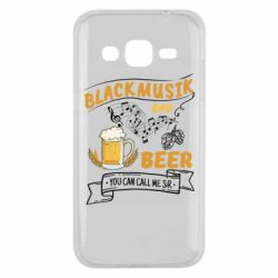 Чехол для Samsung J2 2015 Black music and bear you can call me sir
