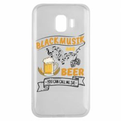 Чехол для Samsung J2 2018 Black music and bear you can call me sir