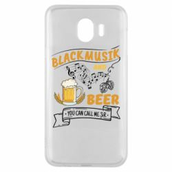Чехол для Samsung J4 Black music and bear you can call me sir
