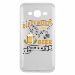 Чехол для Samsung J5 2015 Black music and bear you can call me sir
