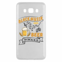 Чехол для Samsung J5 2016 Black music and bear you can call me sir