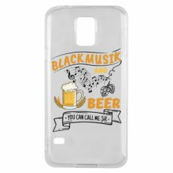 Чехол для Samsung S5 Black music and bear you can call me sir
