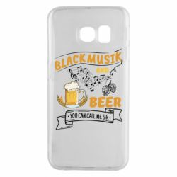 Чехол для Samsung S6 EDGE Black music and bear you can call me sir