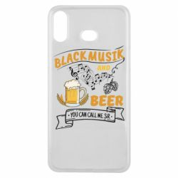 Чехол для Samsung A6s Black music and bear you can call me sir