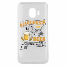 Чехол для Samsung J2 Core Black music and bear you can call me sir