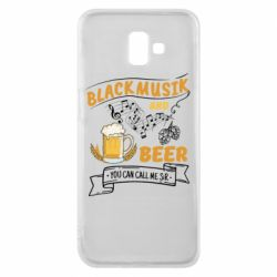 Чехол для Samsung J6 Plus 2018 Black music and bear you can call me sir