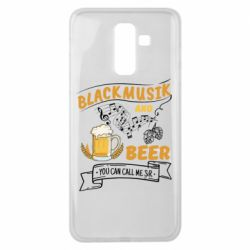 Чехол для Samsung J8 2018 Black music and bear you can call me sir