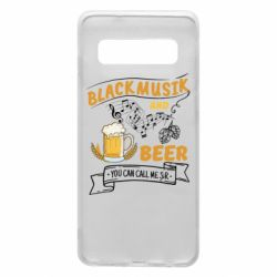 Чехол для Samsung S10 Black music and bear you can call me sir
