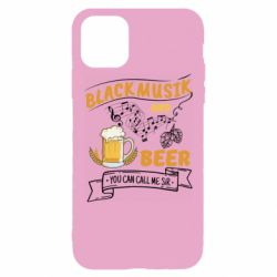Чехол для iPhone 11 Pro Max Black music and bear you can call me sir