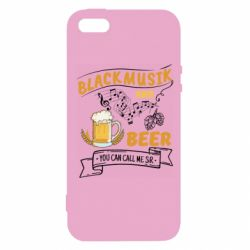 Чехол для iPhone5/5S/SE Black music and bear you can call me sir