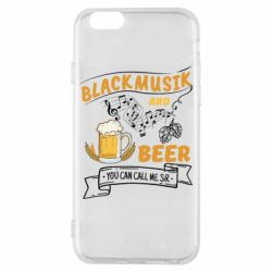 Чехол для iPhone 6/6S Black music and bear you can call me sir