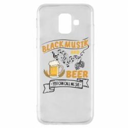 Чехол для Samsung A6 2018 Black music and bear you can call me sir