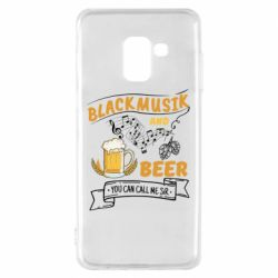 Чехол для Samsung A8 2018 Black music and bear you can call me sir