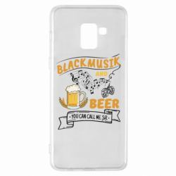 Чехол для Samsung A8+ 2018 Black music and bear you can call me sir